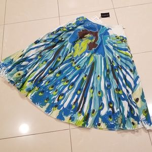 Peacock Bebe Full Skirt with Embellishment